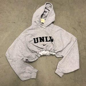 UNLV drawstring crop hoodie